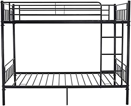 Litera muebles de dormitorio los ni/ños marco de la cama doble 2 metal persona sola,Black