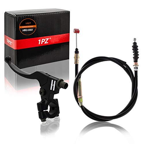 1PZ HB2-X02 7/8'' Handlebar Left Clutch Lever and Clutch Cable with Adjuster for Honda Yamaha Kawasaki 50cc 70cc 90cc 110cc 125cc Dirt Bikes Pit Bike