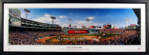 (Boston Red Sox Fenway Park 2004 WS Championship Ring Ceremony Panoramic)