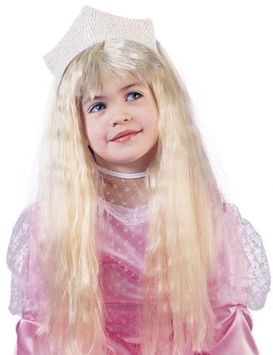 Girls Glamour Wig - Child Std. Yellow Standard Fun World 9244-BLND