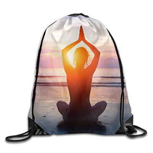 Linkaprk Yoga Drawstring Pack Beam Mouth Gym Sack Shoulder Bags Men & Women ()