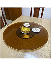 Durable Brown Glass Lazy Susan Turntable for Dining Table, Rotating Swivel Tray, Fully Assembled, 58~118 cm / 23~46.5 Inches//17 (Color : Plastic Steel Base, Size : 98cm/39in)