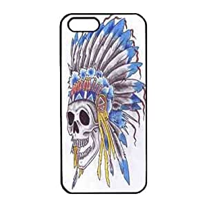 Iphone 5s Case,Hard PC Iphone 5s Protective Case for Ultimate Protect iphone 5s with beautiful Indian skull