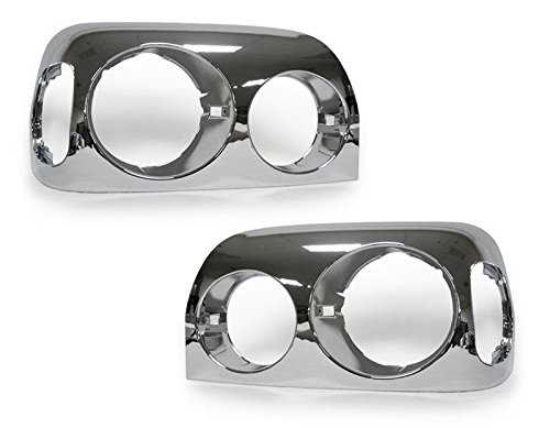 CPW (tm) 1996-2005 Freightliner Century Truck Chrome Headlights Bezel Trim Pair by CPW