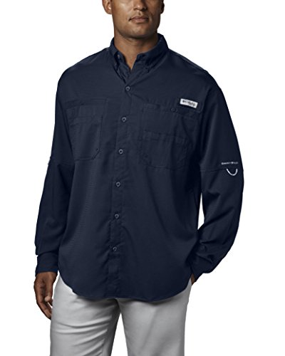 Columbia Men's Plus Tamiami II Long Sleeve Shirt, Collegiate Navy - Large