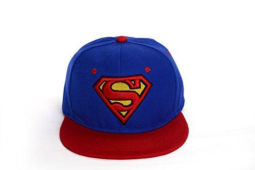 REINDEAR Superman Baseball Cap Hip-hop Snapback Hat US Seller (Blue-Red)