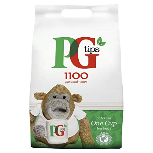 PG Tips One Cup Pyramid Tea Bags (Pack of 1, Total 1100 Tea Bags) by PG Tips (Image #1)