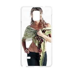 shakira mebarak 104 Samsung Galaxy Note 4 Cell Phone Case White xlb2-313126
