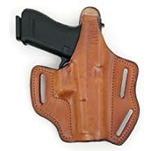 Frontline Multi-Purpose Pancake Leather Holster (Brown), Colt Commander 4-Inch, Right