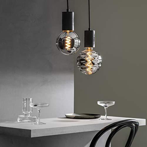 Filamento LED Lamp Bilbao XXL Titanium Ø150 mm E27 4 W: Amazon.es: Iluminación