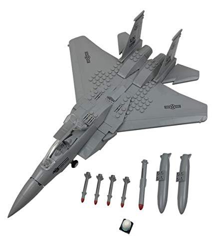 Happy Town Toys F-15 Eagle Fighter Jet Plane Building Blocks Building Bricks Set (F15 Air Force Eagle)