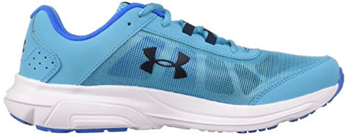 Under Armour Girls' Grade School Rave 2 Sneaker Alpine (301)/Blue Circuit 3.5 by Under Armour (Image #7)