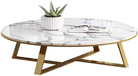 Koop Je Favoriet Woonkamertafels Modern Elegant Ronde Thuis Koffietafel - Metalen Gouden Frame & Marmeren Desktop - Ideaal voor Woonkamer/Balkon/Snack/Bedkant, Meubilair Essentials  A5YrsTw