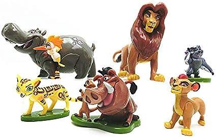 Dhl 6 Anime Style Film Le Roi Lion Simba Little Lion Jouet Animal Poupee Modele Paysage Gateau Decoration 4 7cm Amazon Fr Cuisine Maison