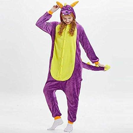 JIAWEIDAMAI Pijama de Dinosaurio de Franela Adultos The ...