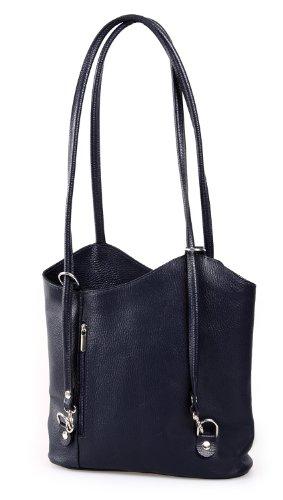 IO.IO.MIO Borsetta per le Icone® - Bolso mochila  de cuero para mujer azul darkblue