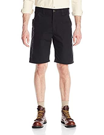 Carhartt Men's Canvas Work Short, Black, 28