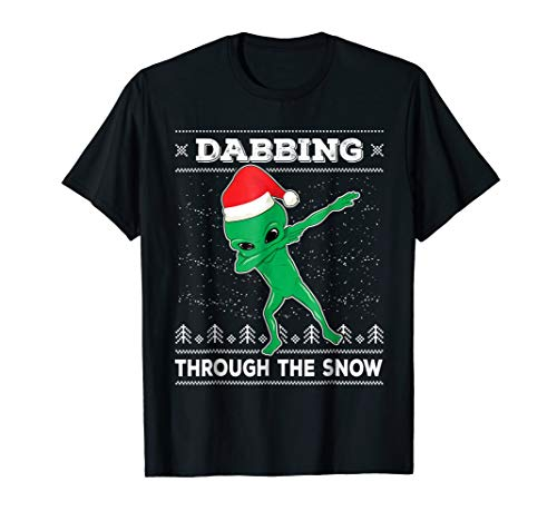 Dabbing Alien T-Shirt Ugly Christmas Sweater