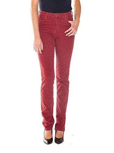 Jeans 753 Taille Rouge Droit Couleur Femmes Pour 448 Unie Haute Velours Coupe Carrera Classique Pantalons Style d57RdH