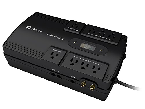 Liebert 850VA 500W Battery Backup & Surge Protector, 8-Outlets, 3 Year Warranty, TAA Compliant (PST4-850MT120)