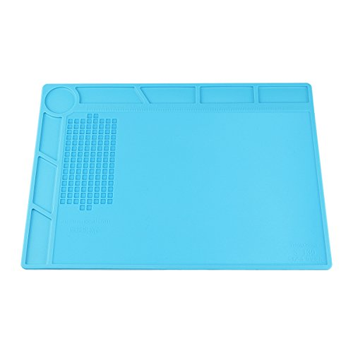 Heat Insulation Silicone Repair Mat with Scale Ruler and Screw Position for Soldering Iron, Phone and Computer Repair, Gift for Techie