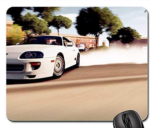 Toyota Supra Car Above Drift Smoke Video Game Non-Slip Mouse pad ()