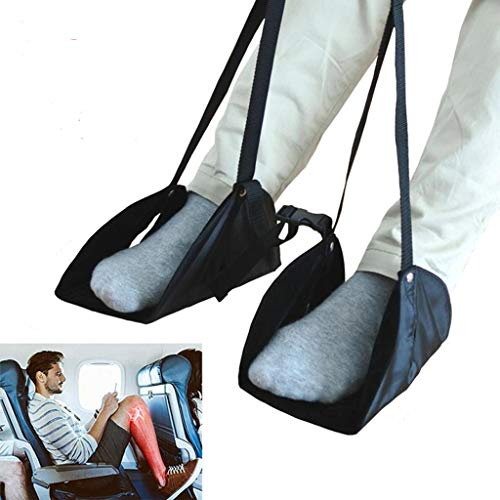 - MSOO Comfy Hanger Travel Airplane Footrest Hammock Made with Premium Memory Foam Foot