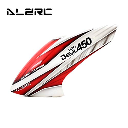 ALZRC Devil 450 Pro V2 RC Helicopter Parts Fiberglass Canopy Red White for RC Helicopter Parts Accssoreis Accs