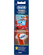 Oral-B EB10-2 Stages Power Kids Disney Cars Replacement Toothbrush Heads - Pack of 2 - 2725603550711