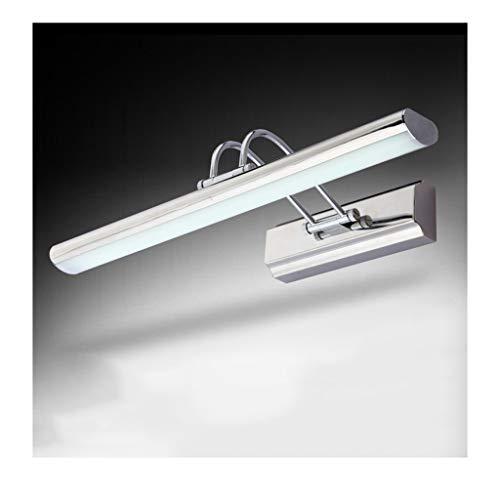 Vanity Mirror Lights LED Stainless Steel Bathroom Mirror Headlights, Mirror Cabinet Rustproof Waterproof Fog Mirror Headlights [Energy Class A+] (Color : White light, Size : 15W/70CM)