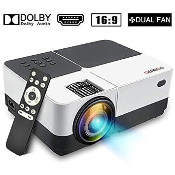 Mini Proyector, Proyector Portátil GEARGO Video Proyector 1080P Full HD, Vida útil de 50,000 Horas, Proyector Cine en Casa Compatible con PC ...