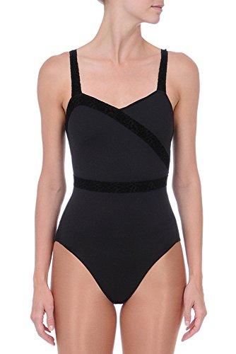 88c8237f5 Danskin Women s NYCB Asymmetrical Leotard Velvet Lace Trim Details ...