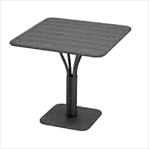 ニチエス FERMOB フェルモブ ルクセンブールテーブル 80×80 *パラソル穴付き 47アンスラサイト B0734CQWZ2