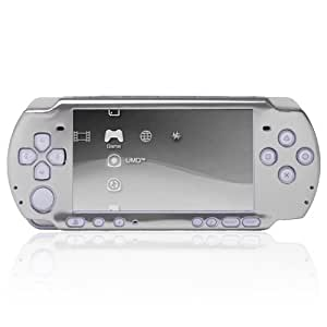 CE Compass Silver Aluminum Ultra Slim Case Cover For Sony PSP 3000