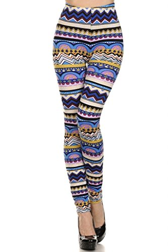 WHITE APPAREL Women's Seamless Full Length Printed Leggings One Size (Various Styles)