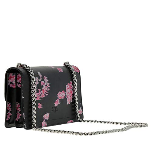 PINKO spinato 1P217BY516 ZN8 tracolla filo Love BAG Vitello Flower seta Stampato fib 7Ar7z