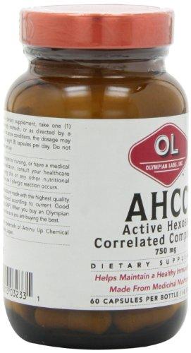 Mua sản phẩm Olympian Labs Ahcc, 750mg, 60 Capsules từ Mỹ giá tốt