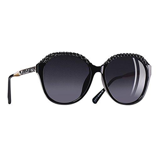 de gafas C1Gray mujer polarizadas Gafas para Mujeres Degradado gafas UV400 para C5Brown sol sol TIANLIANG04 2018 de qH4XaR