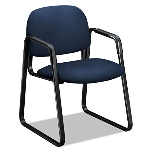 HON4008CU98T - Description : Guest Chair, Navy - HON Solutions Seating 4000 Series Sled Base Guest Chair - - Solutions Seating Hon