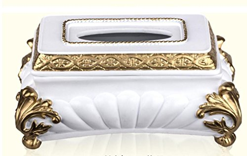 Dbtxwd Tissue Box Cover Practical Home living room Decoration Rectangular Resin Napkin Box Cover White , white , 25.515.514 by Dbtxwd