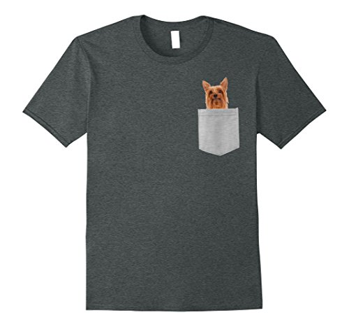 Mens Dog in Your Pocket Silky Terrier t shirt shirt Small Dark Heather