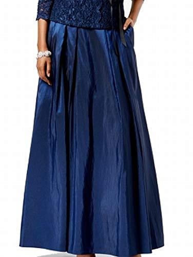- Alex Evenings Women's Long Skirt Various Styles (Petite and Regular Sizes), Navy Taffeta S