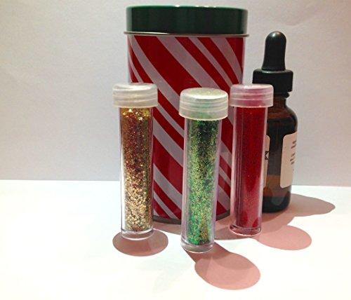 Christmas Glitter Beard Kit Gift Set Holiday Theme Colors Three Vials (Glitter Basic)