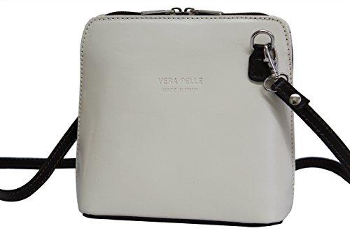 disco Handbag shoulder AMBRA bag Small Women's bag Brown Cross Moda VL508 Beige body bag bag leather PgEgBrawq