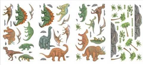 T-rex Wallpaper (DINOSAUR trex WALL APPLIQUES wallpaper boy kid decor 30)