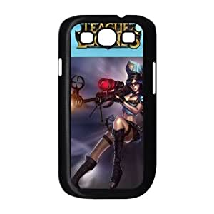Samsung Galaxy S3 9300 Phone Case Cover Black League of Legends Caitlyn EUA15983342 Protective Customized Case