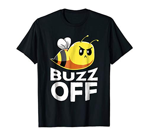 Buzz Off T-Shirt Funny Honey Bee Pun Shirt Bee Lover Gift]()