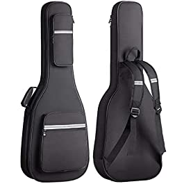 CAHAYA Electric Guitar Bag Premium Padded Gig Bag Soft Case 0.5inch Thick Padding with Reflective Bands