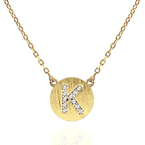 Steel Stamped Coin Necklace K (Silver) - 4
