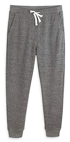 HARBETH Men's Casual Fleece Jogger Sweatpants Cotton Active Elastic Pocket Pants Charcoal Melange XL